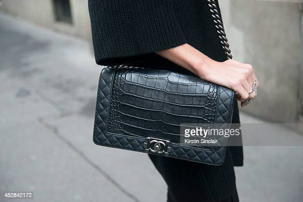 Natalia wearing a Chanel bag day 5 of Paris Haute Couture Fashion Week Autumn/Winter 2014 on July 10 2014 in Paris France