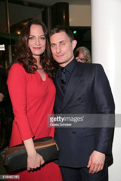 Natalia Woerner and Clemens Schick during the 'Vogue loves Breuninger' fashion event on March 18 2016 in Stuttgart Germany