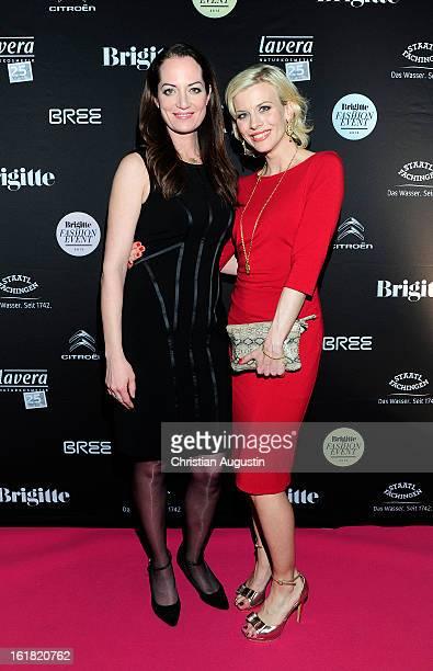 Natalia Woerner and Eva Habermann attend Brigitte Fashion Event 2013 at Hamburg Cruise Center on February 16 2013 in Hamburg Germany