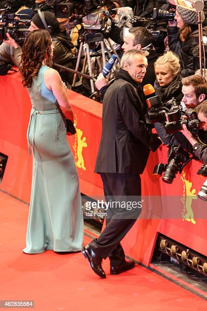 Natalia Woerner and Hannes Jaenicke attend the 'Nobody Wants the Night' Premiere 65th Berlinale International Film Festival on February 05 2015 in...