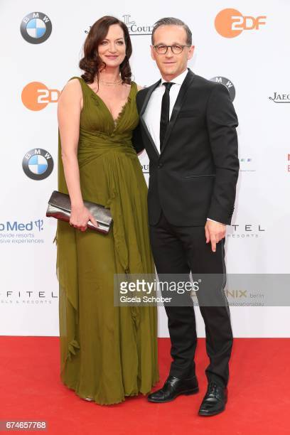 Natalia Woerner and her boyfriend german federal minister of justice Heiko Maas during the Lola German Film Award red carpet arrivals at Messe Berlin...