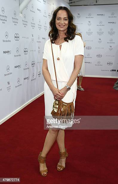 Natalia Woerner attends the Minx by Eva Lutz show during the MercedesBenz Fashion Week Berlin Spring/Summer 2016 at Brandenburg Gate on July 8 2015...