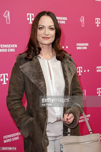 Natalia Woerner attends the Telekom Entertain TV Night at Hotel Zoo on April 28 2016 in Berlin Germany