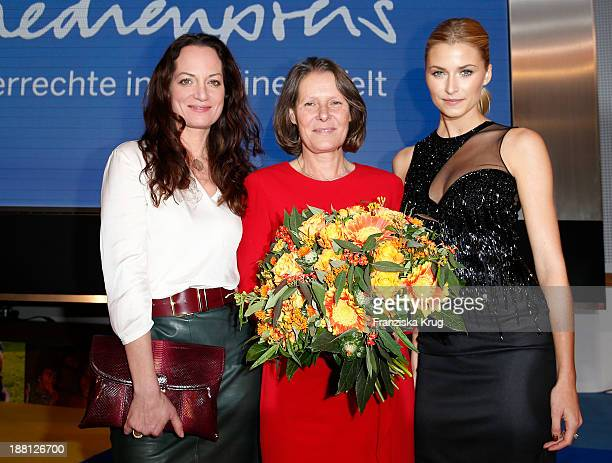 Natalia Woerner Christina Rau and Lena Gercke attend the 15th Media Award By Kindernothilfe at Hauptstadtrepraesentanz Deutsche Telekom AG on...