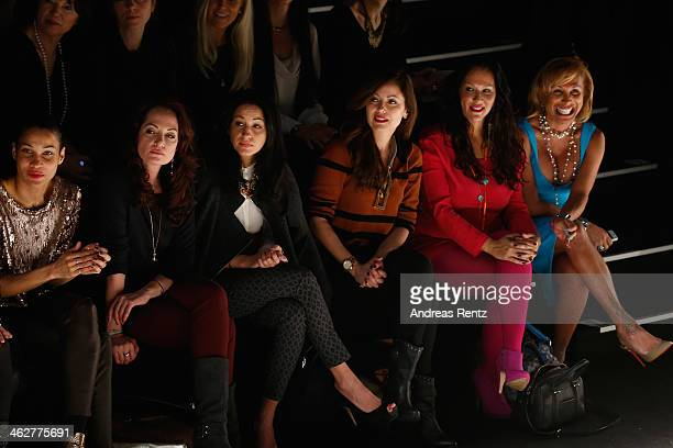 Natalia Woerner Minu BaratiFischer Carolina Vera and attend the Minx by Eva Lutz show during MercedesBenz Fashion Week Autumn/Winter 2014/15 at...