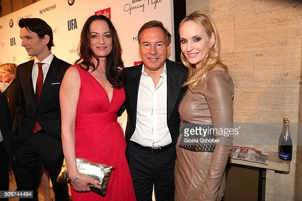Natalia Woerner, Nico Hofmann and Anne Meyer-Minnemann during the 'Berlin Opening Night of GALA & UFA Fiction' at Das Stue Hotel on February 11, 2016...