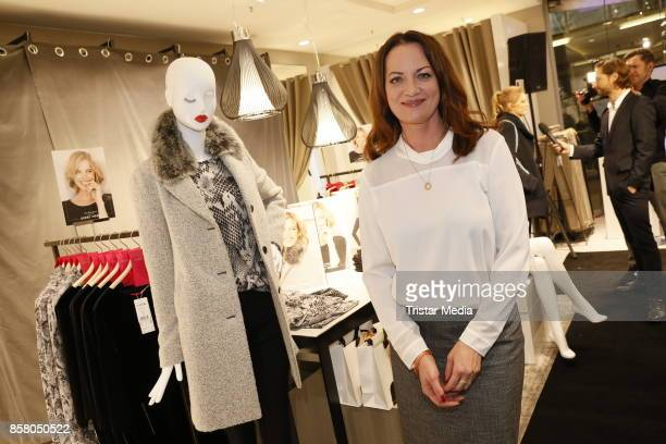 Natalia Woerner with the Capsule Collection 'Eva Herzigova selected for Gerry Weber' during the Gerry Weber InStore Event on October 5 2017 in...