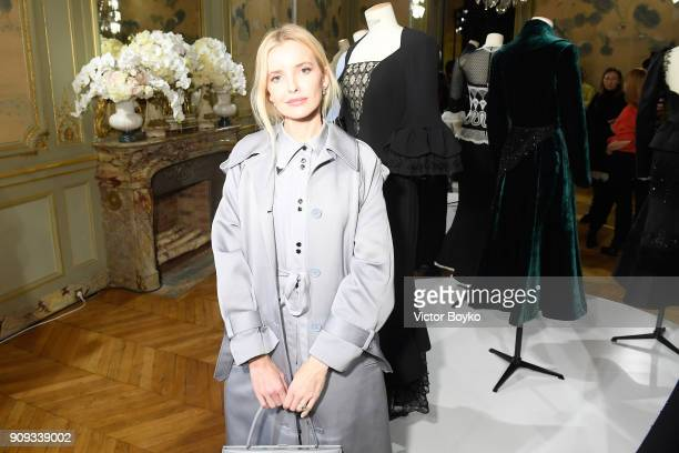Natalia Yakimchik attends the Ulyana Sergeenko Presentation as part of Paris Fashion Week Haute Couture Spring Summer 2018 show as part of Paris...