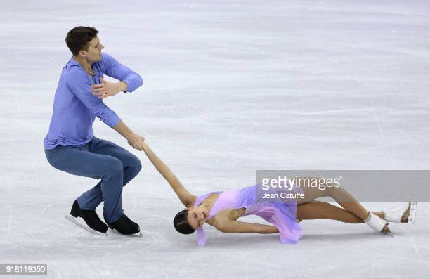 Natalia Zabiiako Alexander Enbert of Olympic Athletes of Russia during the Figure Skating Pairs Skating Short Program on day five of the PyeongChang...