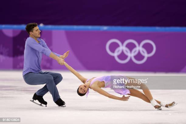 Natalia Zabiiako and Alexander Enbert of Olympic Athlete from Russia compete during the Pair Skating Short Program on day five of the PyeongChang...