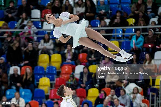 Natalia Zabiiako and Alexander Enbert of Russia compete during Pairs Short Program on day one of the Rostelecom Cup ISU Grand Prix of Figure Skating...