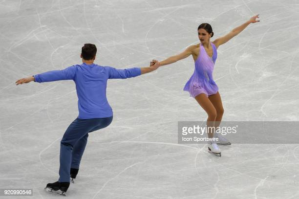 Natalia Zabilako and Alexander Enbert perform during the Pairs Short Program during the 2018 Winter Olympic Games at Gangneung Ice Arena on February...