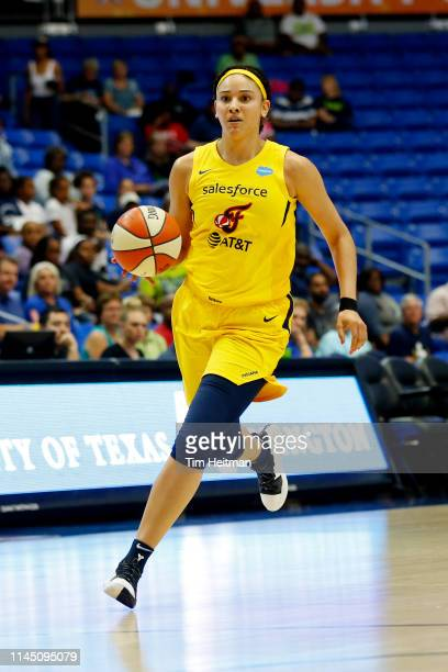 Natalie Achonwa of Indiana Fever handles the ball against the Dallas Wings on May 19 2019 at the College Park Arena in Arlington Texas NOTE TO USER...