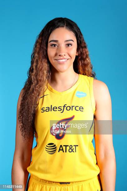 Natalie Achonwa of the Indiana Fever poses for a head shot during WNBA media day at Bankers Life Fieldhouse on May 20 2019 in Indianapolis Indiana...