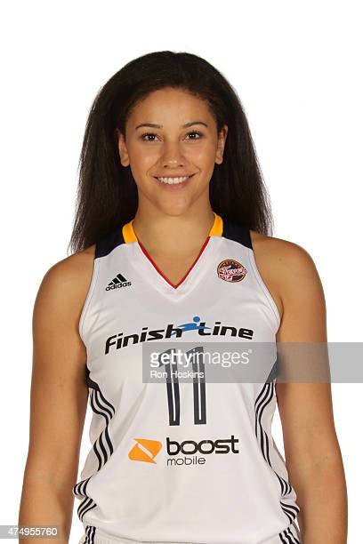Natalie Achonwa of the Indiana Fever poses for a portrait during Fever Media Day on May 27 2015 at Bankers Life Fieldhouse in Indianapolis Indiana...