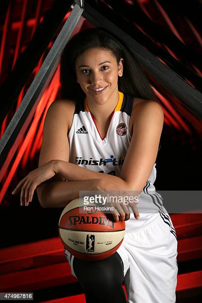 INDIANAPOLIS IN Natalie Achonwa of the Indiana Fever poses for a portrait during Fever Media Day on May 27 2015 at Bankers Life Fieldhouse in...