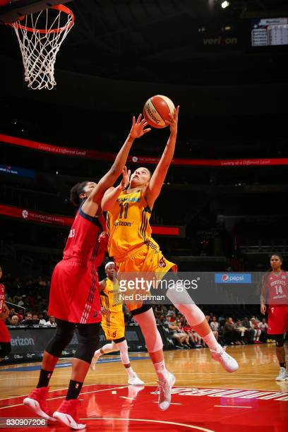 Natalie Achonwa of the Indiana Fever shoots the ball against the Washington Mystics on August 12 2017 at the Verizon Center in Washington DC NOTE TO...