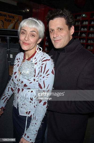 Natalie 'Alabama' Chanin and Isaac Mizrahi during Mercedes Benz Fashion Week Fall 2003 Collections Project Alabama 'Prom Night' at Bowlmor Lanes in...