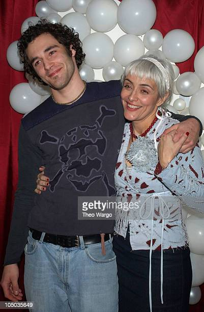Natalie 'Alabama' Chanin and son during Mercedes Benz Fashion Week Fall 2003 Collections Project Alabama 'Prom Night' at Bowlmor Lanes in New York...
