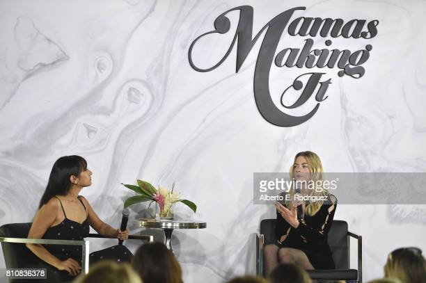 Natalie Alcala founder of Fashion Mamas and actress/model Jaime King attend the Mamas Making It Summit at W Hollywood on July 8 2017 in Hollywood...
