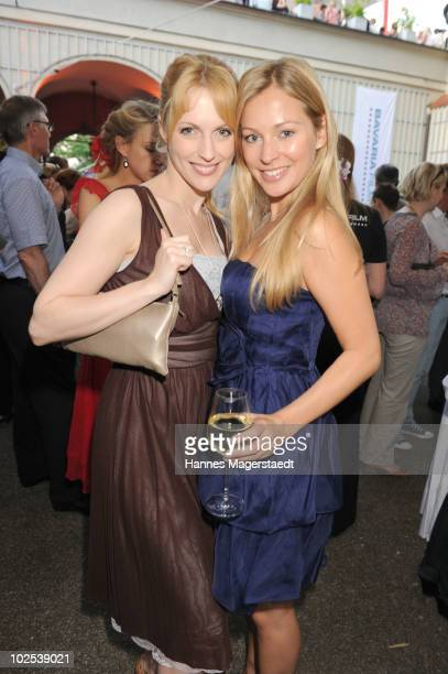 Natalie Alison and Sarah Stork attend the 'Bavaria Reception' during the Munich Film Festival at the Kuenstlerhaus on June 29 2010 in Munich Germany