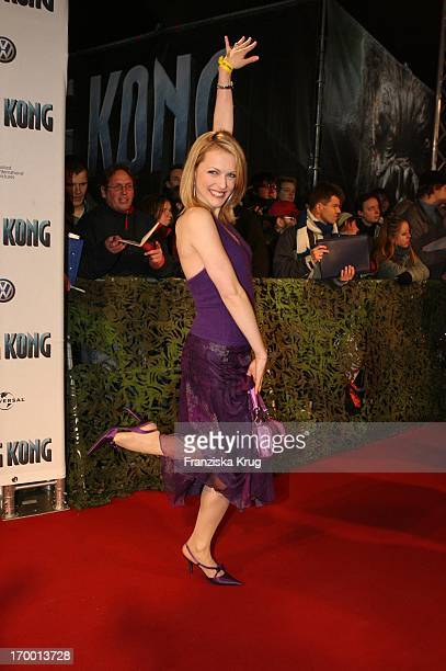 Natalie Alison at the European premiere of King Kong in the theater at Potsdamer Platz Berlin