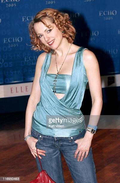 Natalie Alison during 2005 ECHO German Music Awards Arrivals Press Room at Estel in Berlin Germany