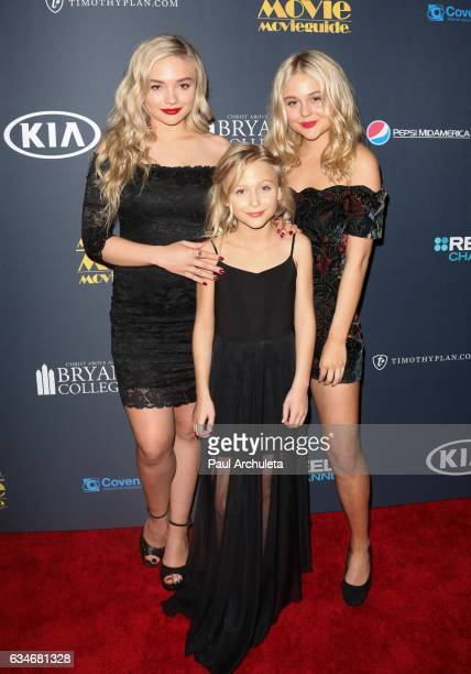 Natalie Alyn Lind Alyvia Alyn Lind and Emily Alyn Lind Actors attends the 25th Annual Movieguide Awards at Universal Hilton Hotel on February 10 2017...