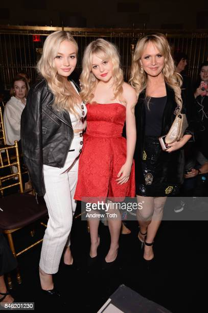 Natalie Alyn Lind Emily Alyn Lind and Barbara Alyn Woods pose backstage at the Sherri Hill NYFW SS18 fashion show at Gotham Hall on September 12 2017...