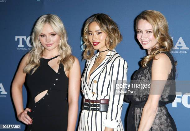 Natalie Alyn Lind Jamie Chung and Amy Acker arrive at the 2018 Winter TCA Tour FOX AllStar Party held at The Langham Huntington on January 4 2018 in...