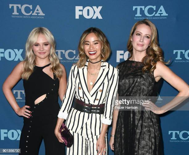 Natalie Alyn Lind, Jamie Chung and Amy Acker attend the FOX All-Star Party during the 2018 Winter TCA Tour at The Langham Huntington, Pasadena on...
