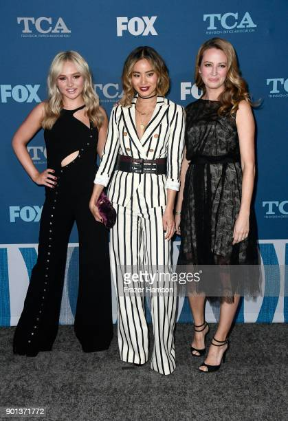 Natalie Alyn Lind Jamie Chung and Amy Acker attend the FOX AllStar Party during the 2018 Winter TCA Tour at The Langham Huntington Pasadena on...