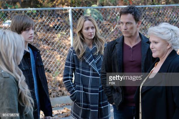 Natalie Alyn Lind Percy Hynes White Amy Acker Stephen Moyer and guest star Sharon Gless in the first part of the eXtraction/Xroads twohour season...