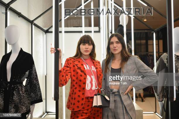 Natalie and Dylan Suarez attend the celebration of the BCBGMAXAZRIA SoHo store opening with Kate Young Bernd Kroeber and InStyle on September 13 2018...