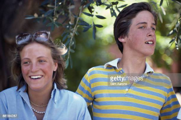 Natalie and Miguel Abreu the son and daughter of Jean Claude Abreu in Porto Ercole Tuscany August 1980