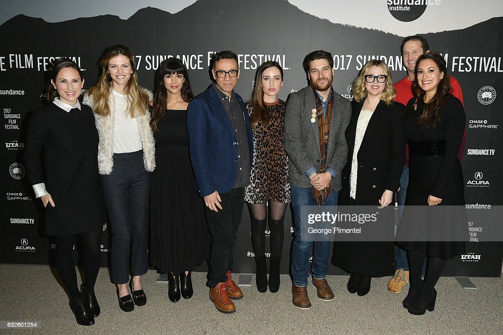 Natalie Andersen, Brooklyn Decker, Hannah Simone, Fred Armisen, Zoe Lister-Jones, Adma Pally, Majandra Delfino, Trevor Groth and Angelique Cabral attend the 'Band Aid' Premiere at Eccles Center Theatre on January 24, 2017 in Park City, Utah.