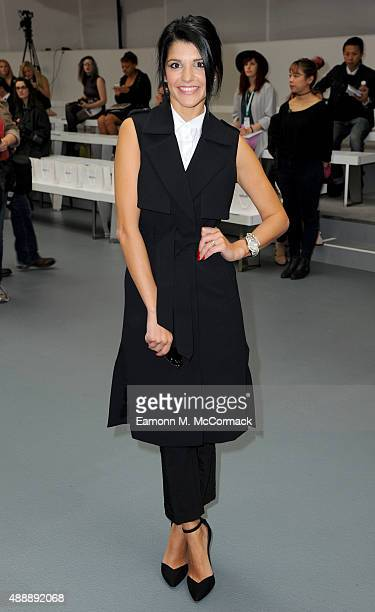 Natalie Anderson attends the Bora Aksu show during London Fashion Week Spring/Summer 2016 on September 18, 2015 in London, England.