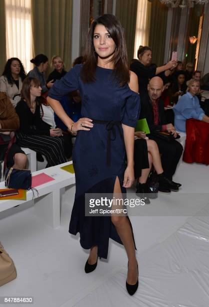 Natalie Anderson attends the Jasper Conran show during London Fashion Week September 2017 on September 16 2017 in London England