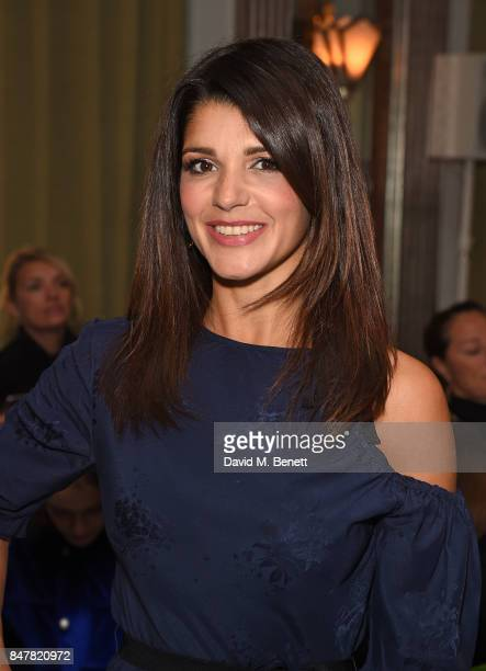 Natalie Anderson attends the Jasper Conran SS18 catwalk show during London Fashion Week September 2017 on September 16 2017 in London United Kingdom