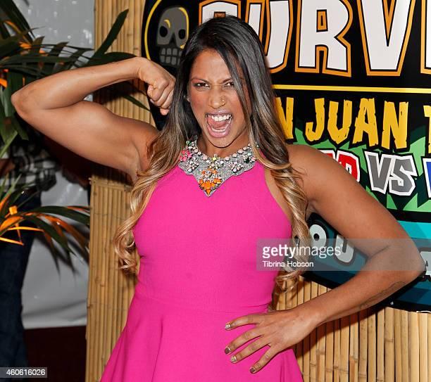 Natalie Anderson attends the Survivor, San Juan Del Sur 'Blood Vs Water' finale at CBS Television City on December 17, 2014 in Los Angeles,...