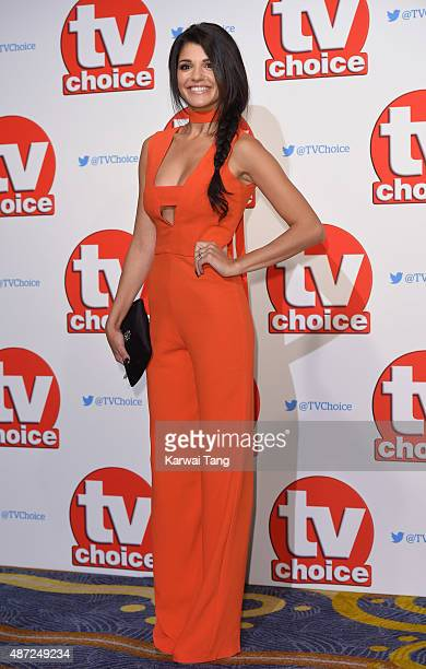 Natalie Anderson attends the TV Choice Awards 2015 at Hilton Park Lane on September 7 2015 in London England
