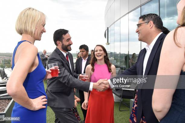 Natalie Andrews Chris Silva Amy Harder and Cenk Uygur founder CEO and host of The Young Turks attend The Young Turks Watchdog Correspondents Preamble...