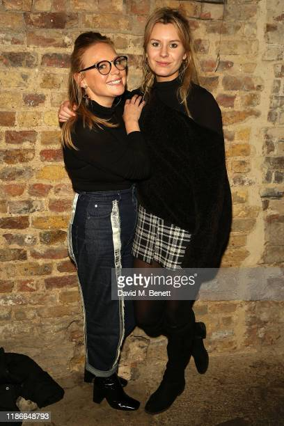 Natalie Ann Jamieson and Olivia Bromley attend the press night performance of Christmas Carol A Fairy Tale at Wilton's Music Hall on December 5 2019...