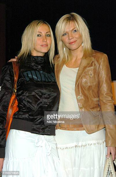 Natalie Appleton and Kate Thornton during Hell's Kitchen II Day 2 Arrivals at The Old Truman Brewery in London Great Britain