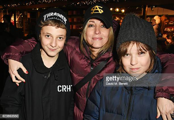 Natalie Appleton and son Ace Billy Howlett attends a VIP Preview of Hyde Park's Winter Wonderland 2016 on November 17 2016 in London United Kingdom