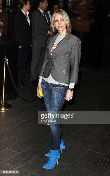 Natalie Appleton attends 'Kate Moss At The Savoy' an exhibition of never before seen photographers of Kate Moss at The Savoy Hotel on January 30 2014...