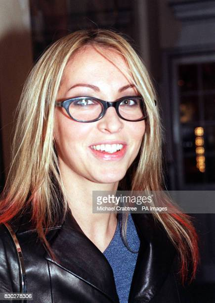 Natalie Appleton from the girl band All Saints arriving at the Tricycle Theatre in London to watch Paul Corcoran's black comedythriller 'Four Nights...