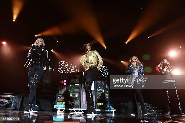 Natalie Appleton Shaznay Lewis and Melanie Blatt and Nicole Appleton of All Saints perform at 02 on April 1 2014 in Dublin Ireland