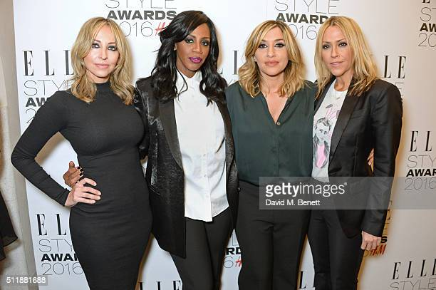 Natalie Appleton Shaznay Lewis Melanie Blatt and Nicole Appleton of All Saints attend The Elle Style Awards 2016 on February 23 2016 in London England