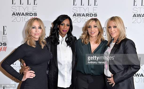 Natalie Appleton Shaznay Lewis Melanie Blatt and Nicole Appleton of All Saints attend The Elle Style Awards 2016 on February 23 2016 in London England